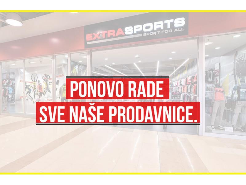 Otvorene su sve Extra Sports prodavnice