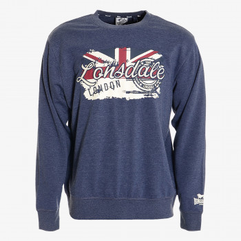 LONSDALE Dukserica LONSDALE RETRO FLAG SWEAT