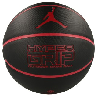 JR NIKE Lopta JORDAN HYPER GRIP 4P 07 BLACK/GYM RED/GY