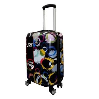 Kofer J2C Circle Printed Hard Suitcase 20in