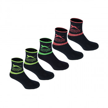 SLAZENGER ČARAPE 5PK CREW SOCK00 BRIGHT ASST JUNIOR 1-6