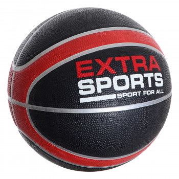 Lopta EXTRA SPORT RUBBER BASKETBALL  Black 7