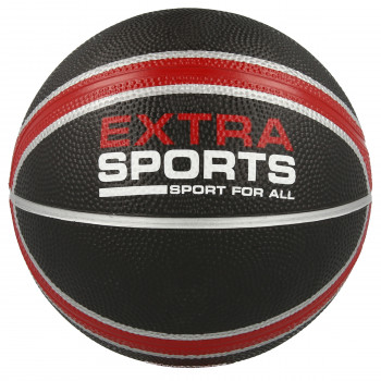 Lopta EXTRA SPORT RUBBER BASKETBALL  Black 3