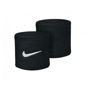 JR NIKE Znojnica NIKE SWOOSH WRISTBANDS BLACK/WHITE