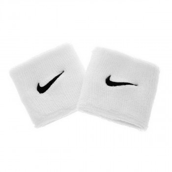 JR NIKE Znojnica NIKE SWOOSH WRISTBANDS WHITE/BLACK