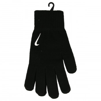JR NIKE Rukavice NIKE SWOOSH KNIT GLOVES L/XL BLACK/WHITE