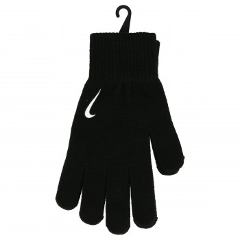 JR NIKE Rukavice NIKE SWOOSH KNIT GLOVES S/M BLACK/WHITE