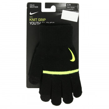 JR NIKE Rukavice NIKE YA STRIPE KNITTED TECH AND GRIP GLO
